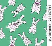 vector cartoon bunnies. rabbit... | Shutterstock .eps vector #234667969