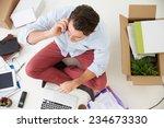 overhead view of start up...   Shutterstock . vector #234673330