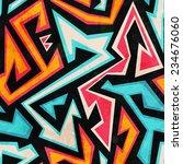 graffiti seamless pattern with... | Shutterstock .eps vector #234676060