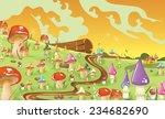 mushroom fields cartoon... | Shutterstock . vector #234682690
