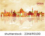 india skyline. vector... | Shutterstock .eps vector #234690100