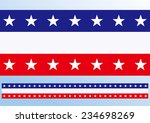 abstract blue white red waving... | Shutterstock .eps vector #234698269