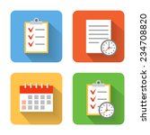flat schedule icons. vector...