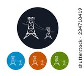 icon high voltage power lines   ... | Shutterstock .eps vector #234710419