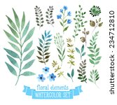 vector floral set. colorful... | Shutterstock .eps vector #234712810