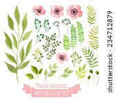 vector floral set. colorful... | Shutterstock .eps vector #234712879