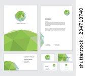 template design of corporate... | Shutterstock .eps vector #234713740