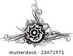 abstract grunge design in black ... | Shutterstock .eps vector #23471971
