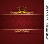 elegant golden frame banner... | Shutterstock .eps vector #234721234