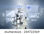 robot is working with... | Shutterstock . vector #234722569
