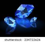 three sapphires. mazarin facet | Shutterstock . vector #234722626