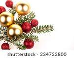 christmas decoration on white... | Shutterstock . vector #234722800