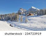 dolomites mountain in winter ... | Shutterstock . vector #234723919