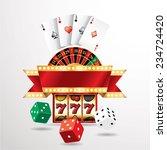 vector gambling casino elements ... | Shutterstock .eps vector #234724420