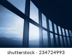 Abstract Business Interior  Blue