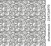 hand drawn swirls seamless... | Shutterstock .eps vector #234726970