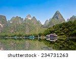 Boats On The River Li  Lijang ...