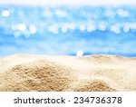 close up of  sand with blurred... | Shutterstock . vector #234736378