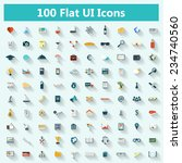 set of modern icons in flat... | Shutterstock . vector #234740560
