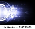 vector abstract engineering... | Shutterstock .eps vector #234751870