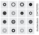 vector black gear icon set on... | Shutterstock .eps vector #234752953