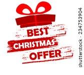 best christmas offer banner  ... | Shutterstock .eps vector #234753904