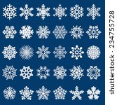 set of snowflakes | Shutterstock . vector #234755728