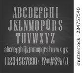 vector illustration of chalk... | Shutterstock .eps vector #234757540