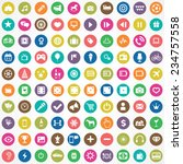 100 entertainment icons big... | Shutterstock . vector #234757558