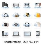 cloud computing icons | Shutterstock .eps vector #234763144