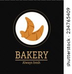 bakery design over black... | Shutterstock .eps vector #234765409