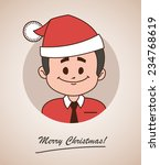 christmas card  with happy ... | Shutterstock . vector #234768619