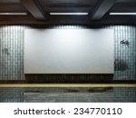 big horizontal poster on metro...   Shutterstock . vector #234770110