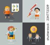 set of flat design vector... | Shutterstock .eps vector #234772339