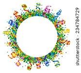 confetti and serpentine round... | Shutterstock .eps vector #234784729