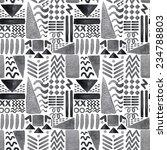 ink geometric seamless pattern  | Shutterstock . vector #234788803