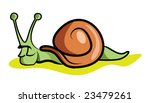 a slow comic snail resting for... | Shutterstock .eps vector #23479261