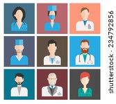 avatar medical icons. female...   Shutterstock .eps vector #234792856