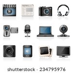 multimedia icons | Shutterstock .eps vector #234795976