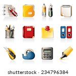 office supply icons | Shutterstock .eps vector #234796384
