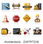 under construction icons | Shutterstock .eps vector #234797218