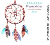 Watercolor Dreamcatcher With...