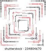 corner frame border design | Shutterstock .eps vector #234804670