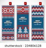 beautiful christmas set of... | Shutterstock .eps vector #234806128