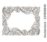 vintage baroque  border frame... | Shutterstock . vector #234808840