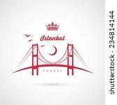 Istanbul Bridge Symbol   Vecto...