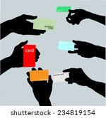 hand holding blank business card | Shutterstock .eps vector #234819154