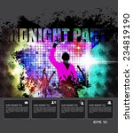 midnight party. vector event... | Shutterstock .eps vector #234819190