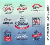 christmas set of  labels ... | Shutterstock .eps vector #234823864