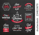 christmas set of  labels ... | Shutterstock .eps vector #234823870